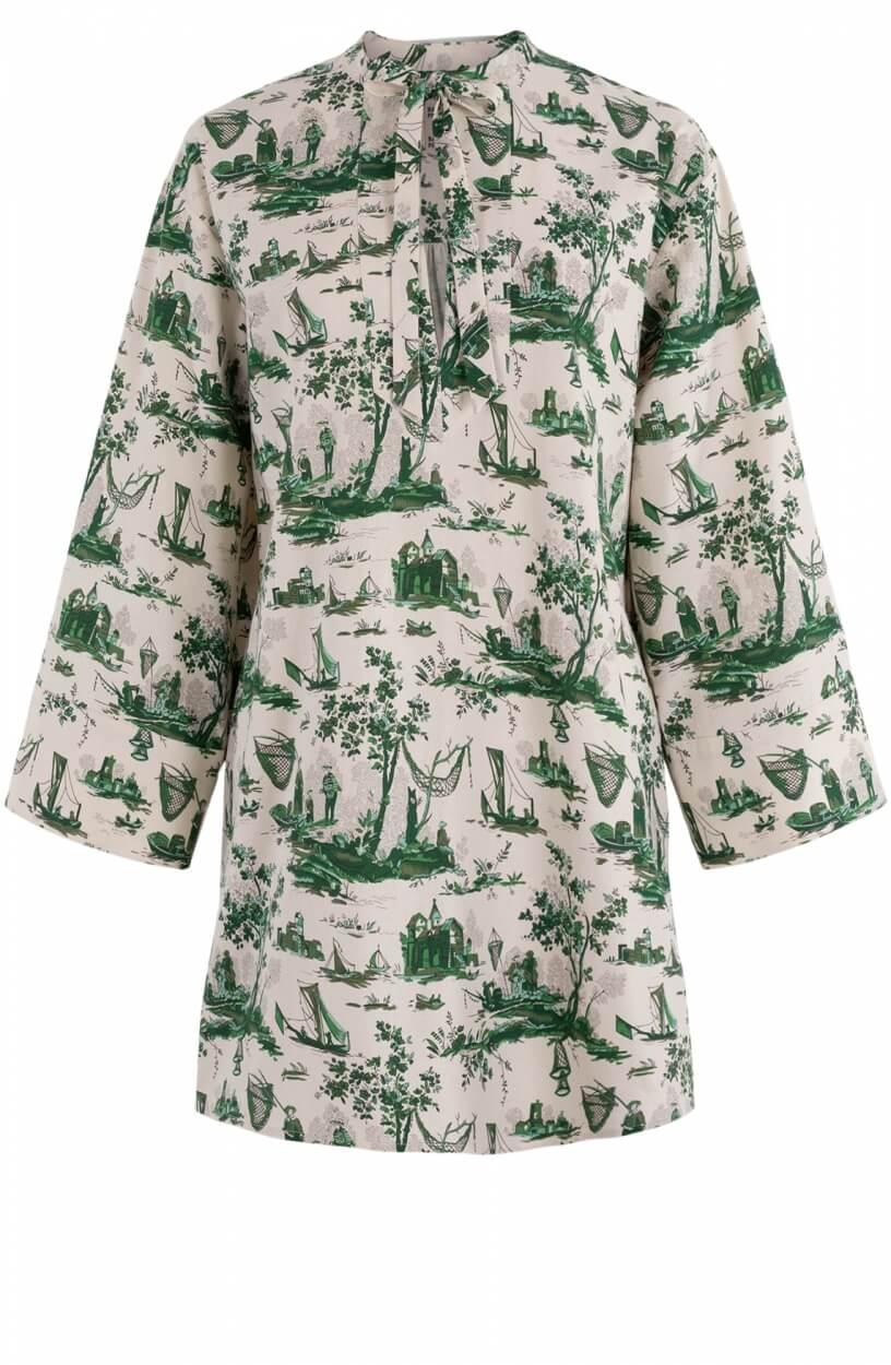 Baum und Pferdgarten Dames Abi jurk Groen