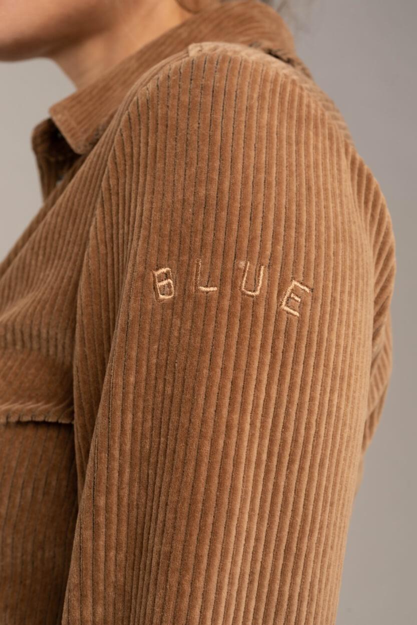 Anna Blue Dames Corduroy blouse Bruin