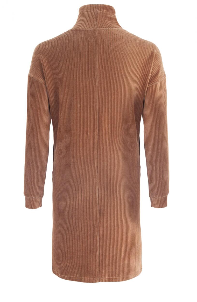 Anna Blue Dames Corduroy jurk Bruin