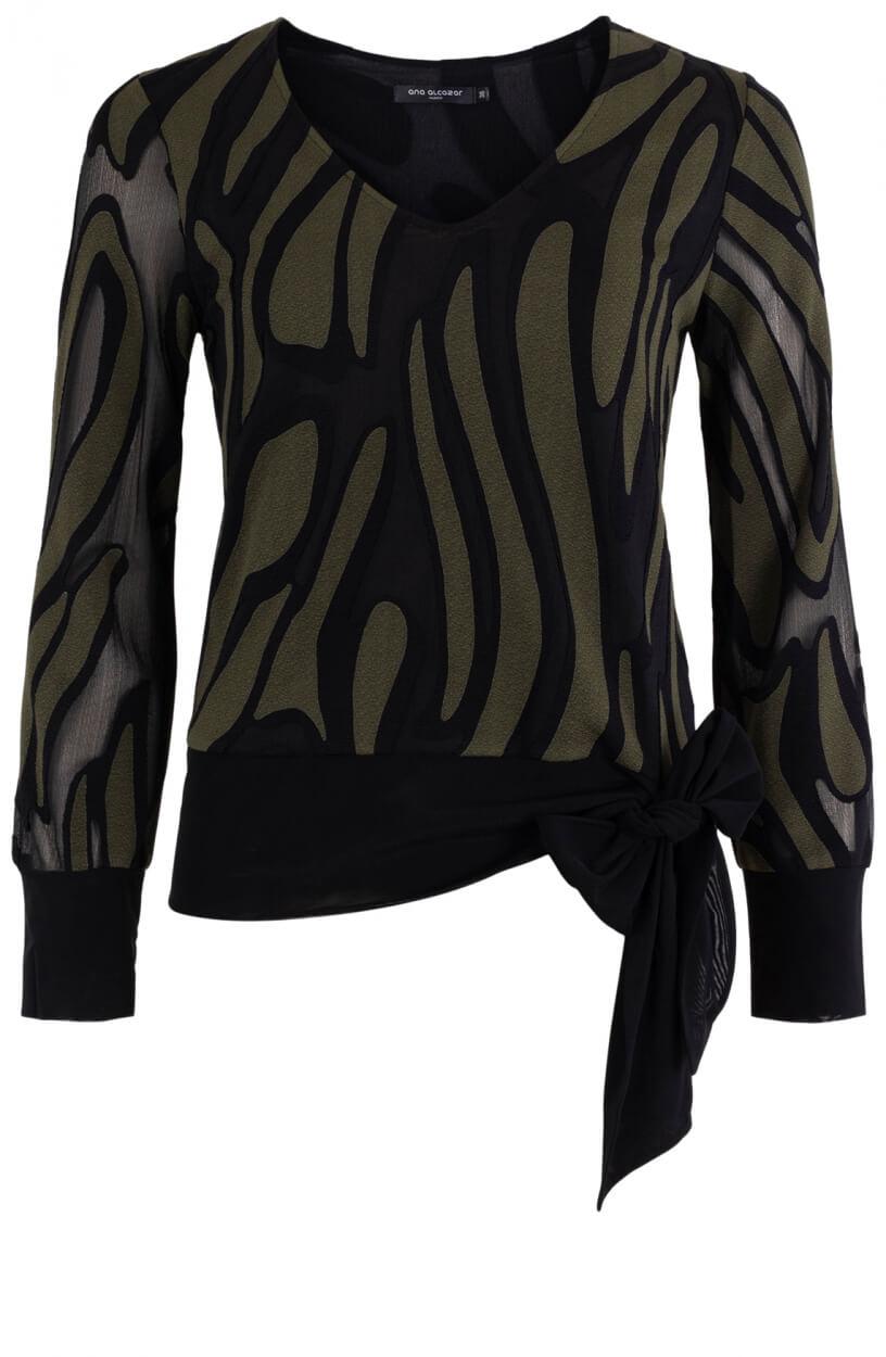 Ana Alcazar Dames Blouse met strikdetail Zwart