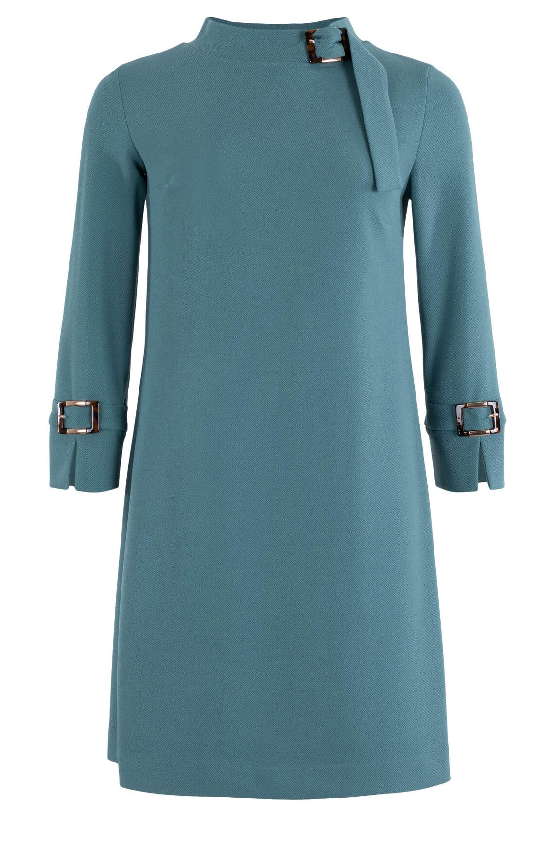 Ana Alcazar Dames Jurk met gespdetail Blauw