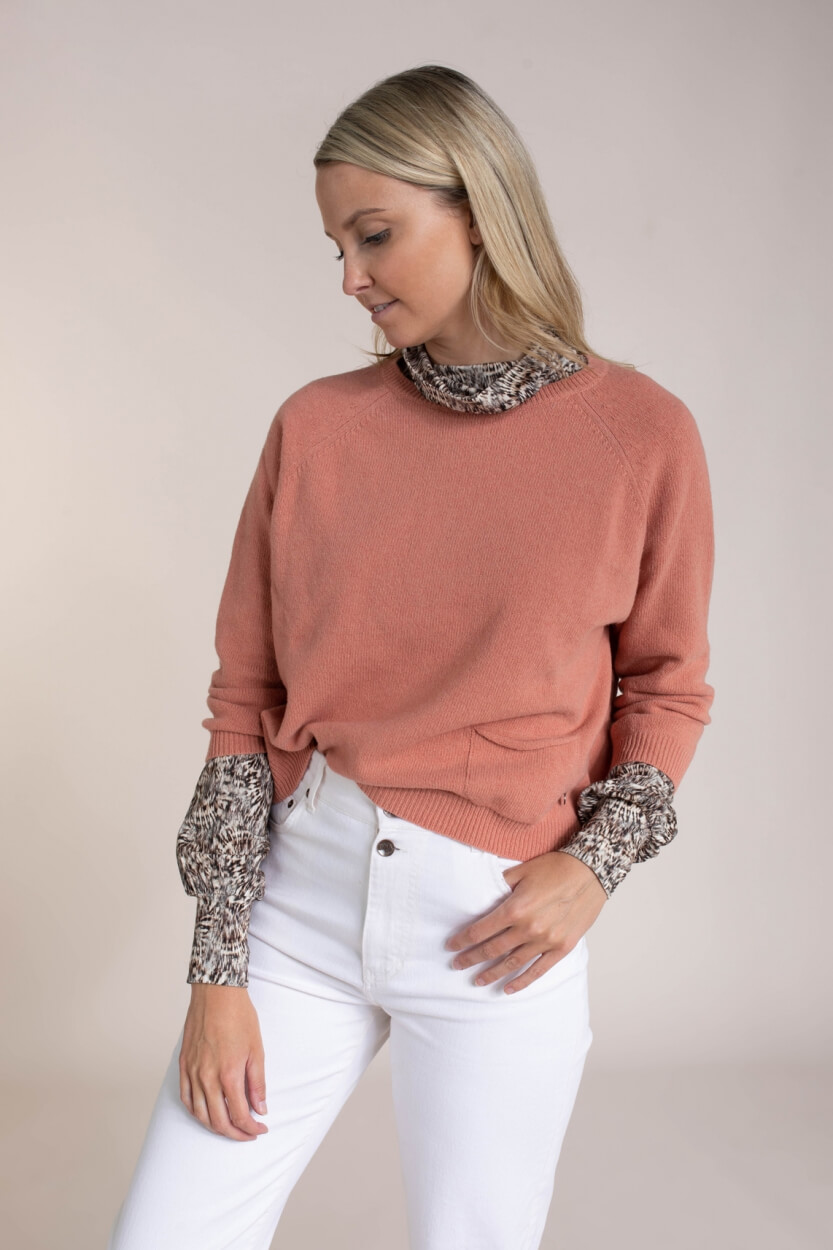 Poools Dames Wollen pull Roze