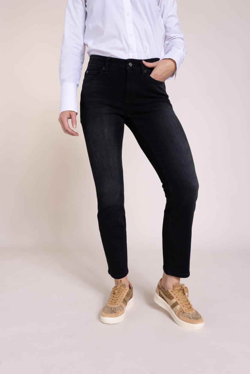 Cambio Dames Paris cropped jeans Zwart