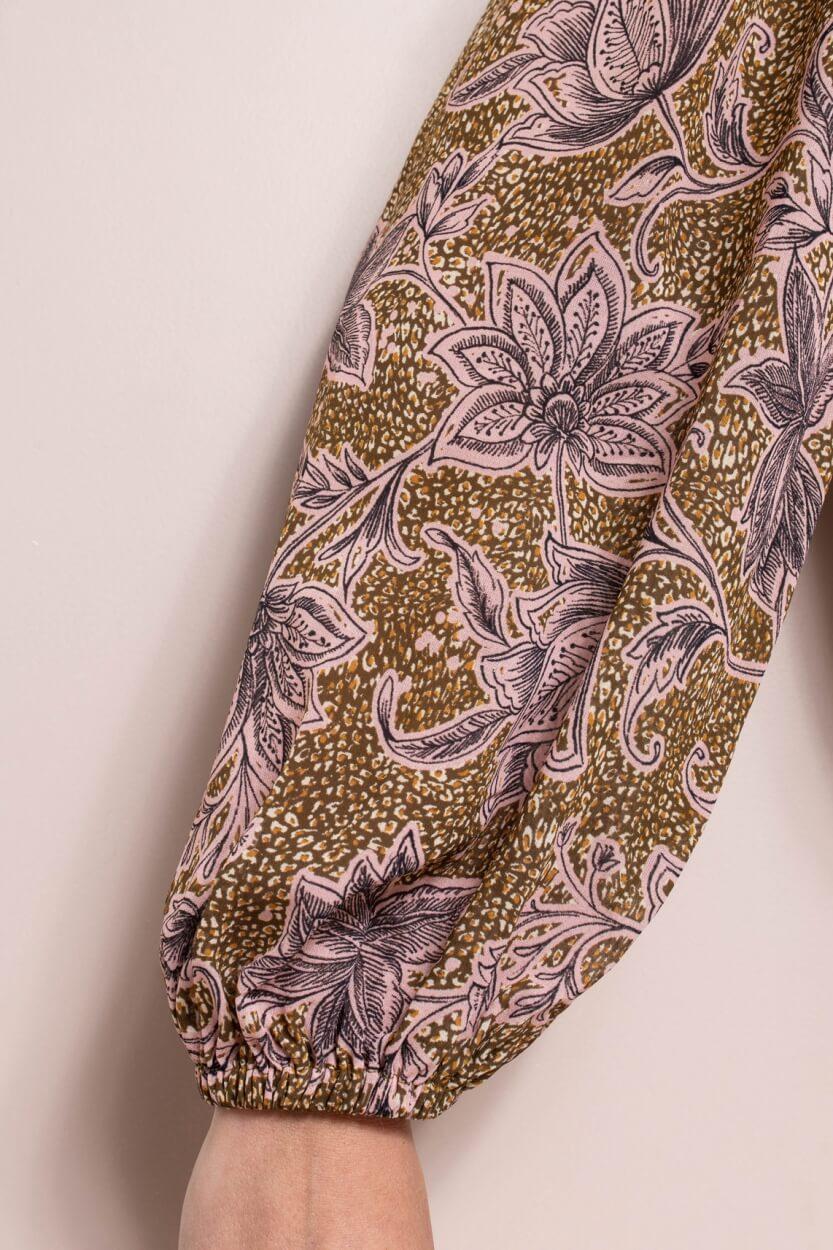 Anna Dames Flower blouse Paars