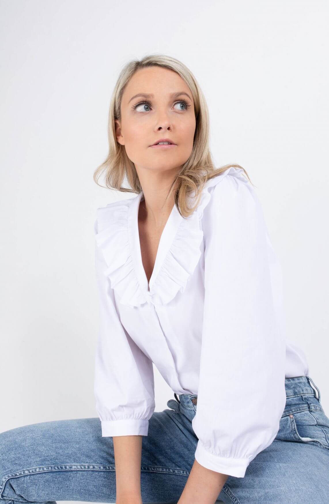 Moss Copenhagen Dames Brisa blouse Wit