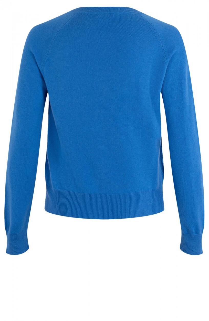 Anna Dames Cashmere vestje Blauw