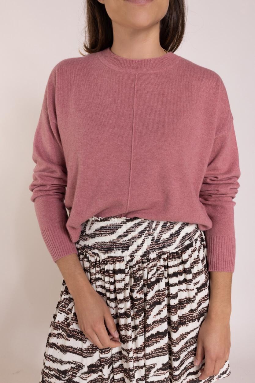 Anna Dames Cashmere pullover Roze