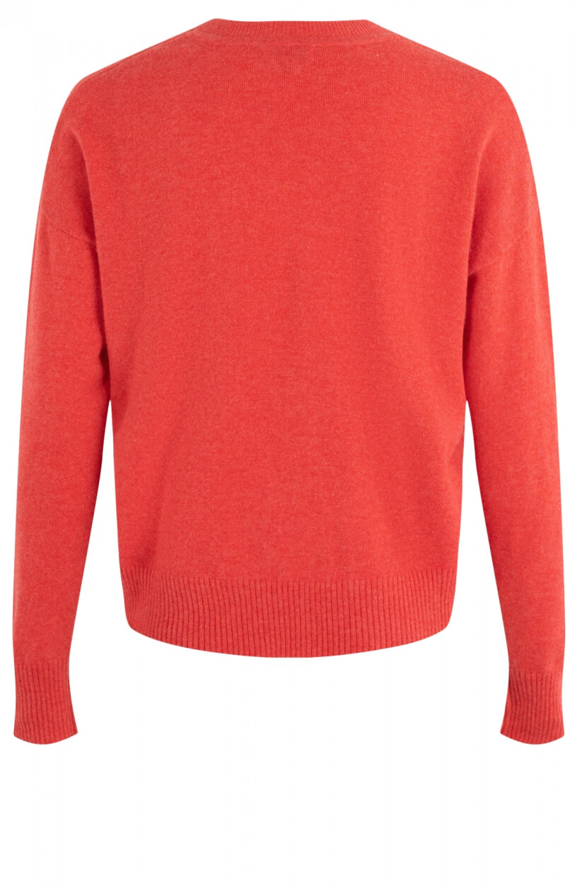 Anna Dames Cashmere pullover Rood
