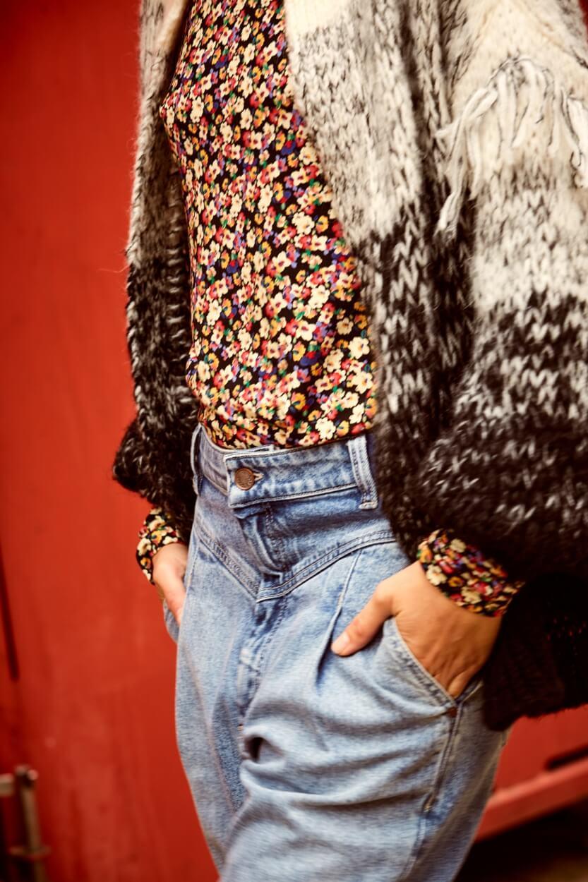 Anna Dames Shirt met bloemenprint Rood