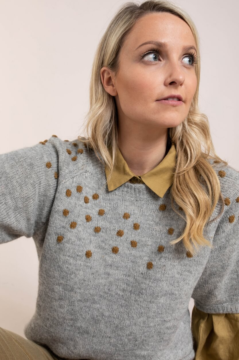 Nümph Dames Nucedar pullover Grijs