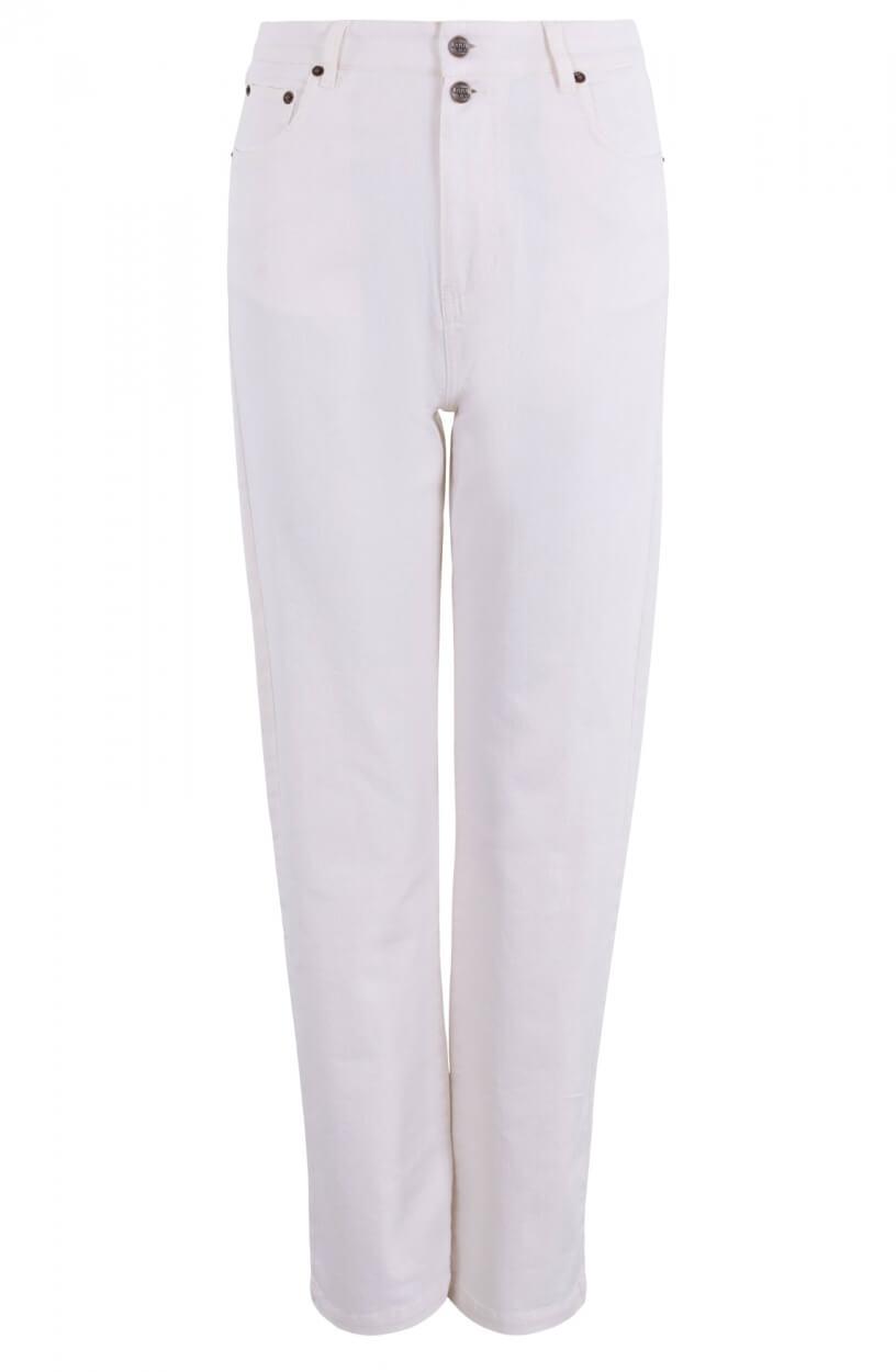 Anna Blue Dames High-waist jeans Wit