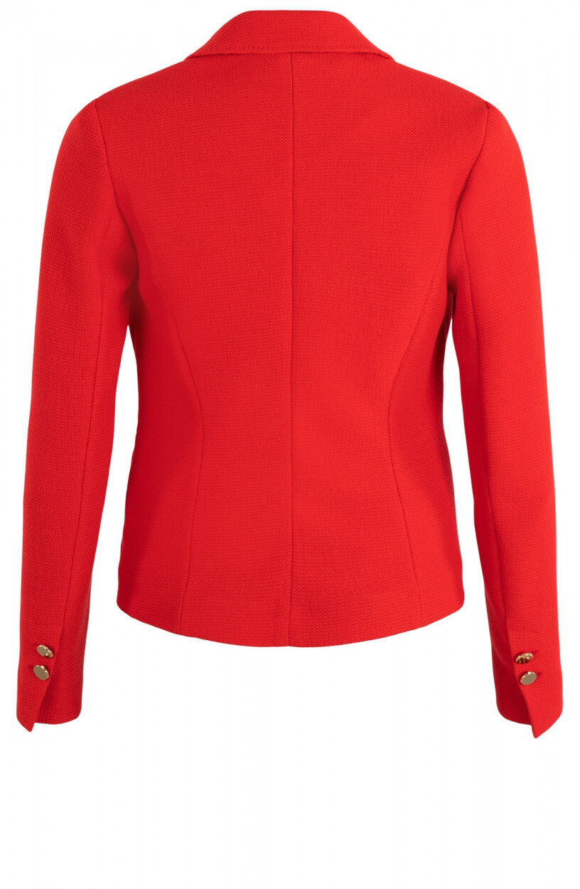 Anna Dames Double breasted blazer Rood
