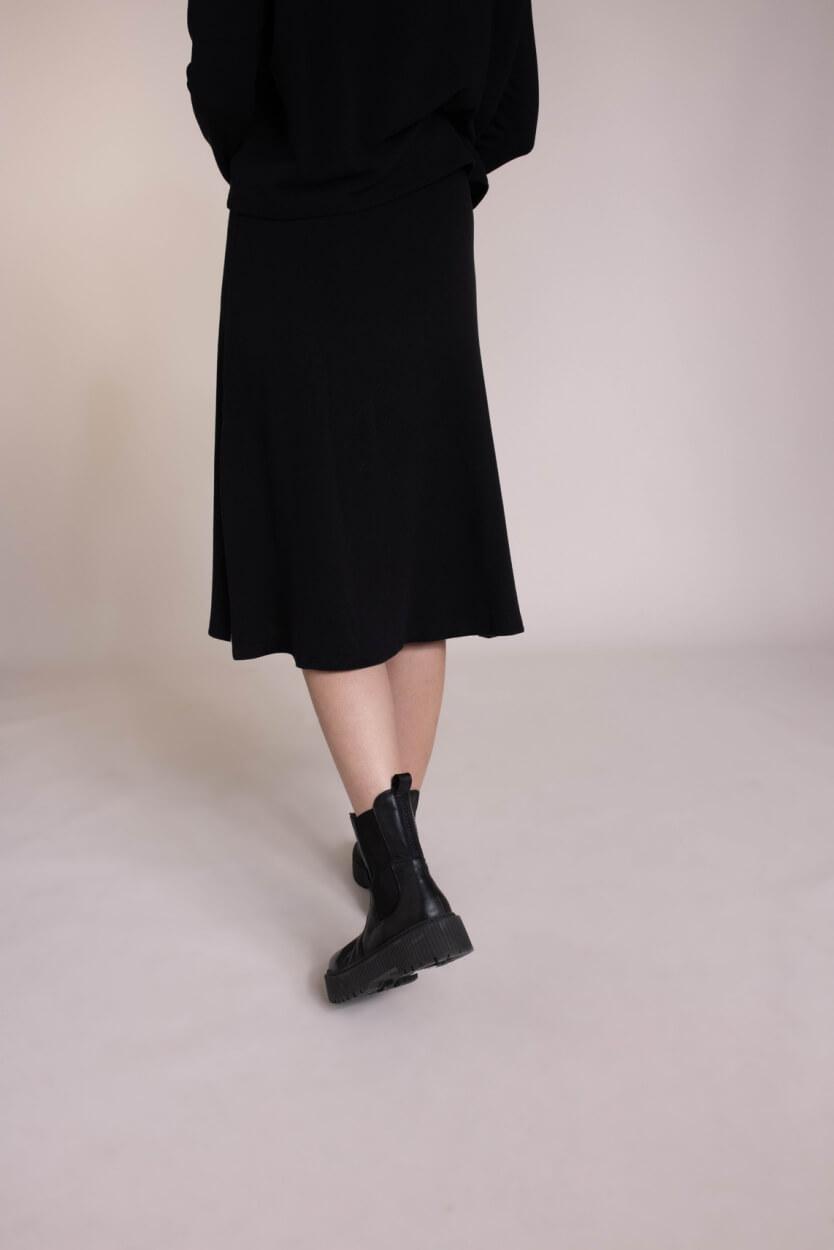 Penn & Ink Dames A-lijn rok Zwart