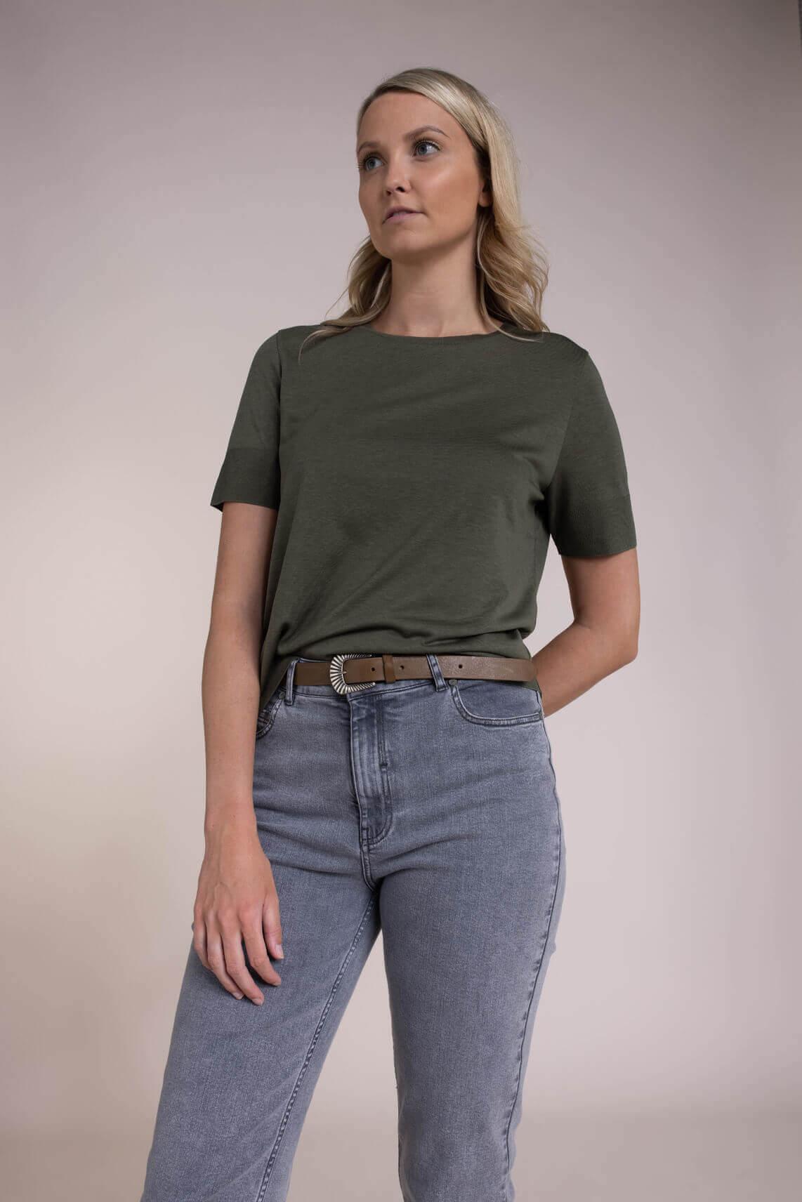 Drykorn Dames Fammy shirt Groen