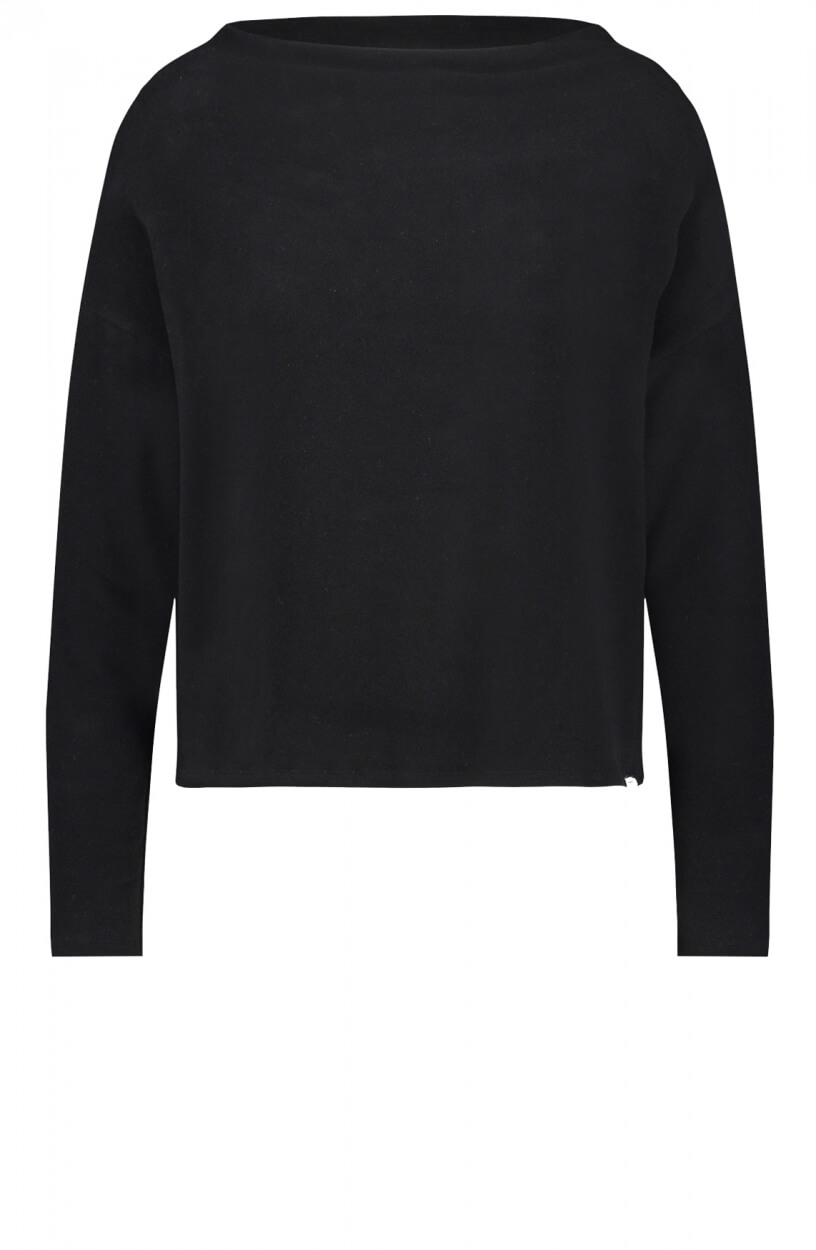 Penn & Ink Dames Gebreide sweater Zwart
