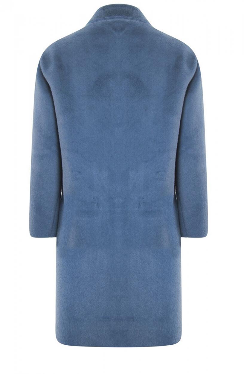 Poools Dames Faux fur jas Blauw