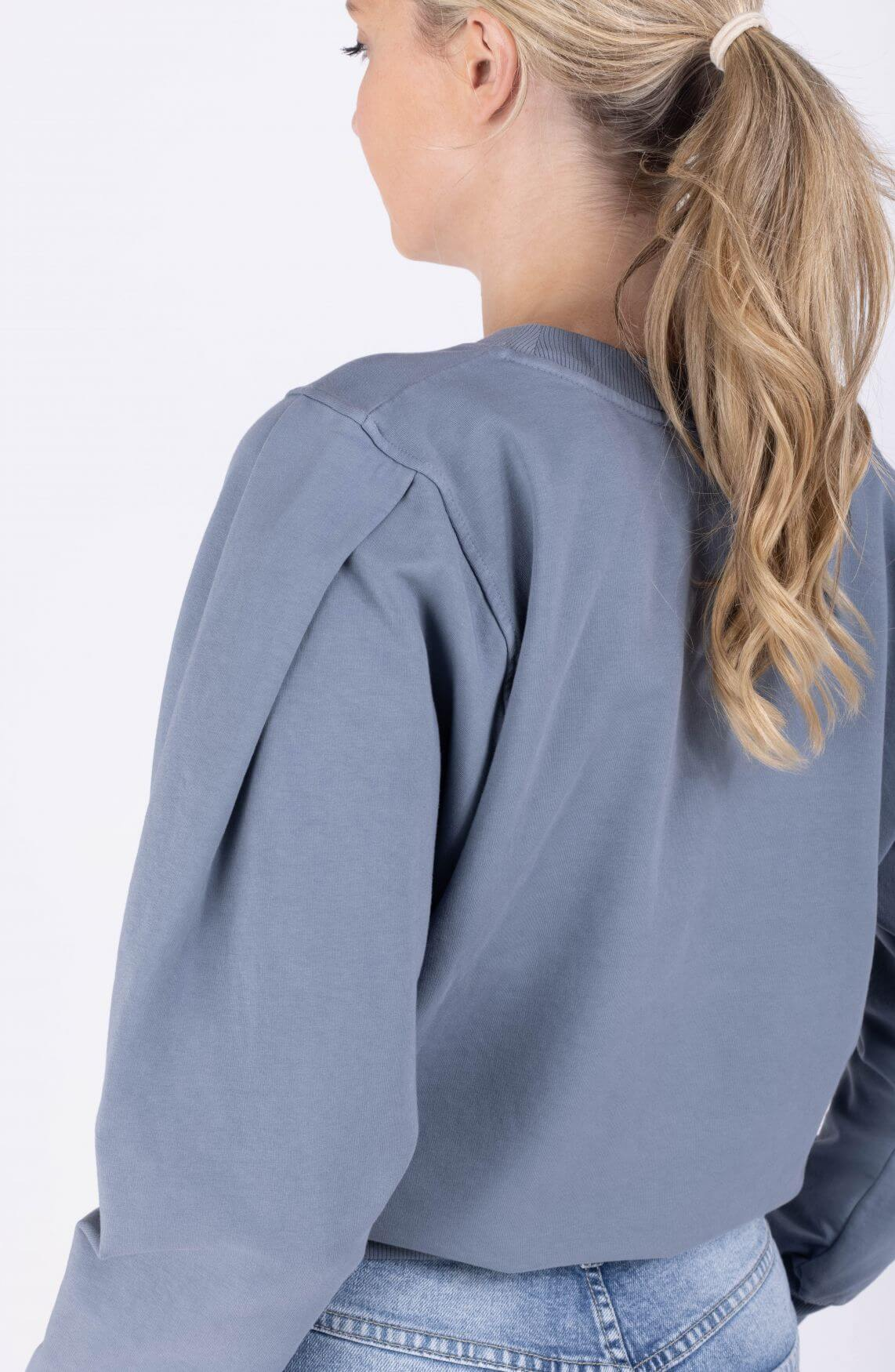 Poools Dames Washed sweater Blauw