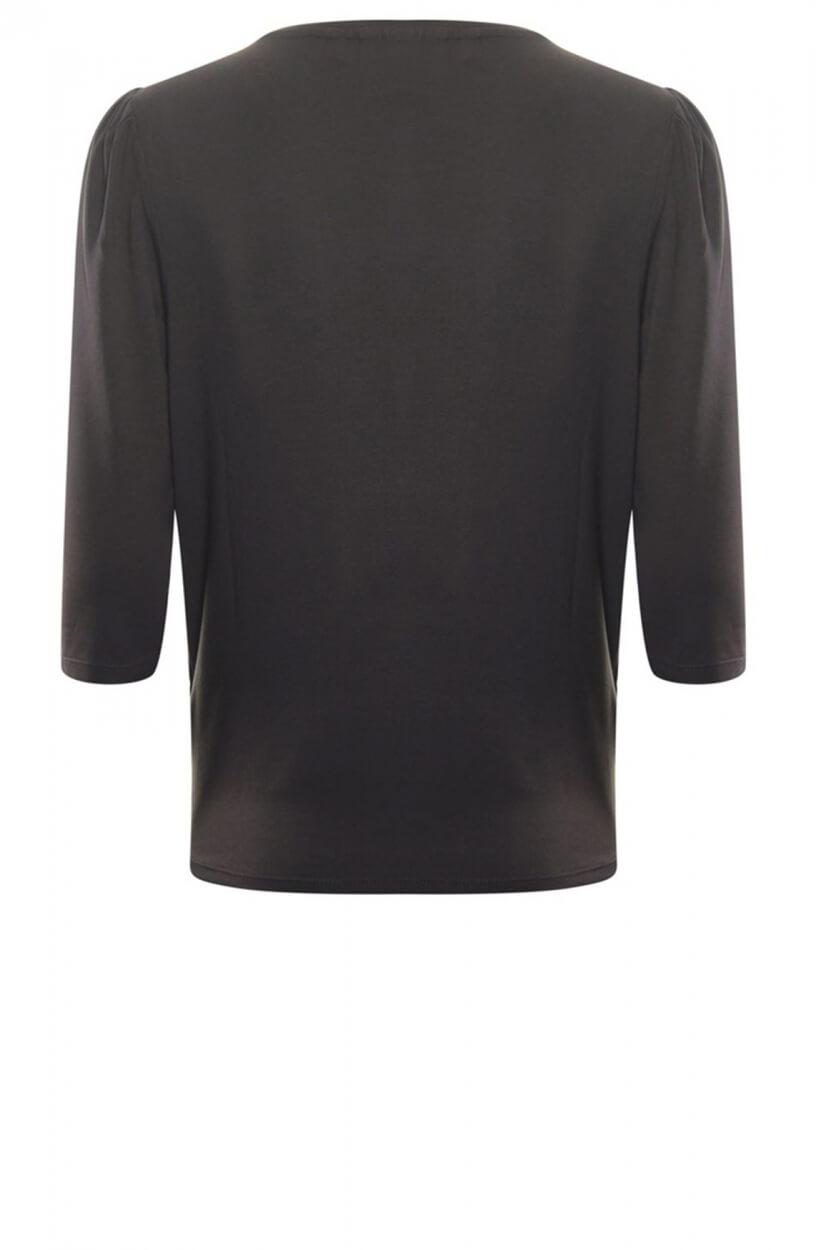 Poools Dames Shirt met opdruk Bruin