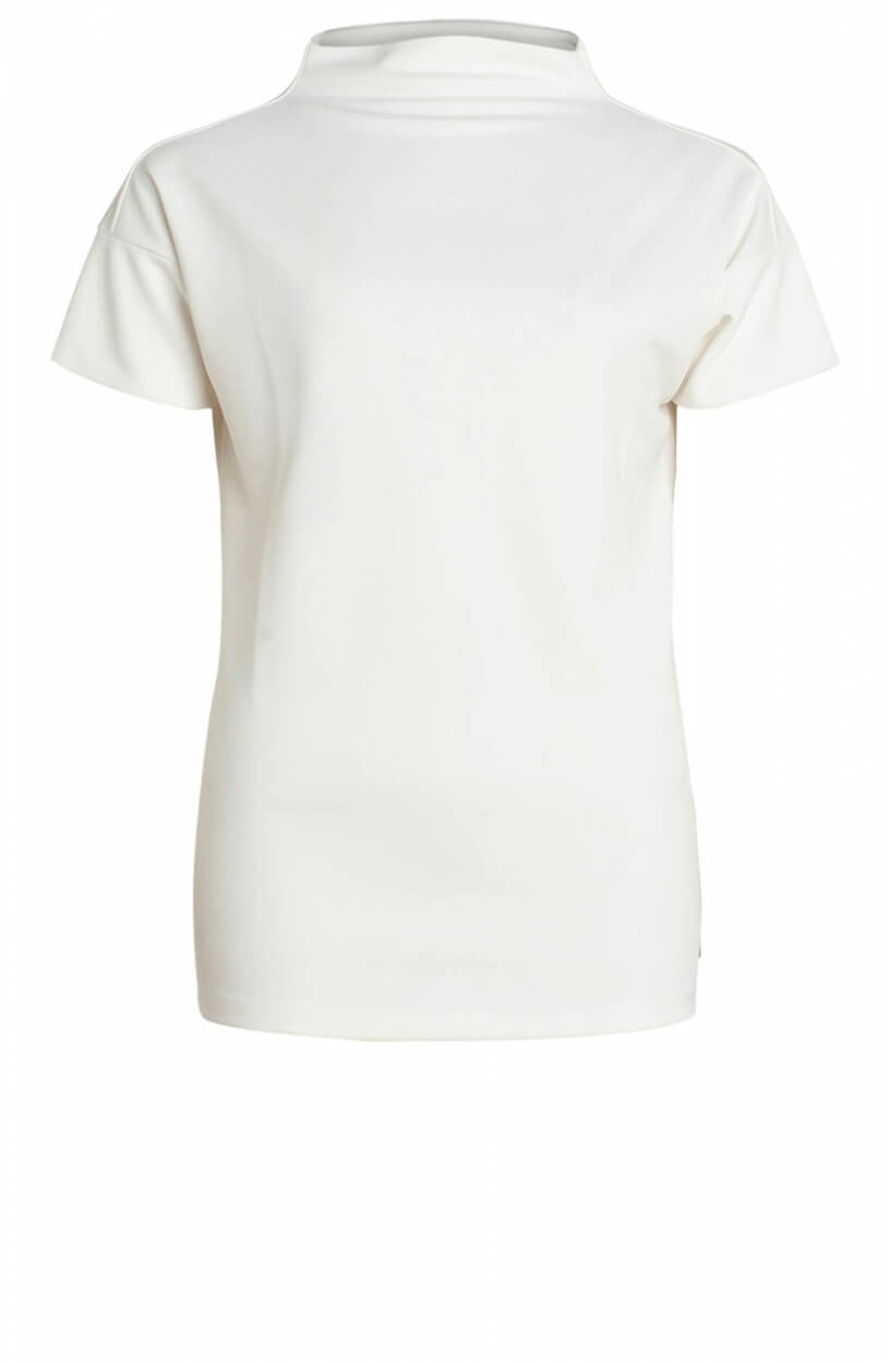 Anna Dames Shirt met turtleneck Wit