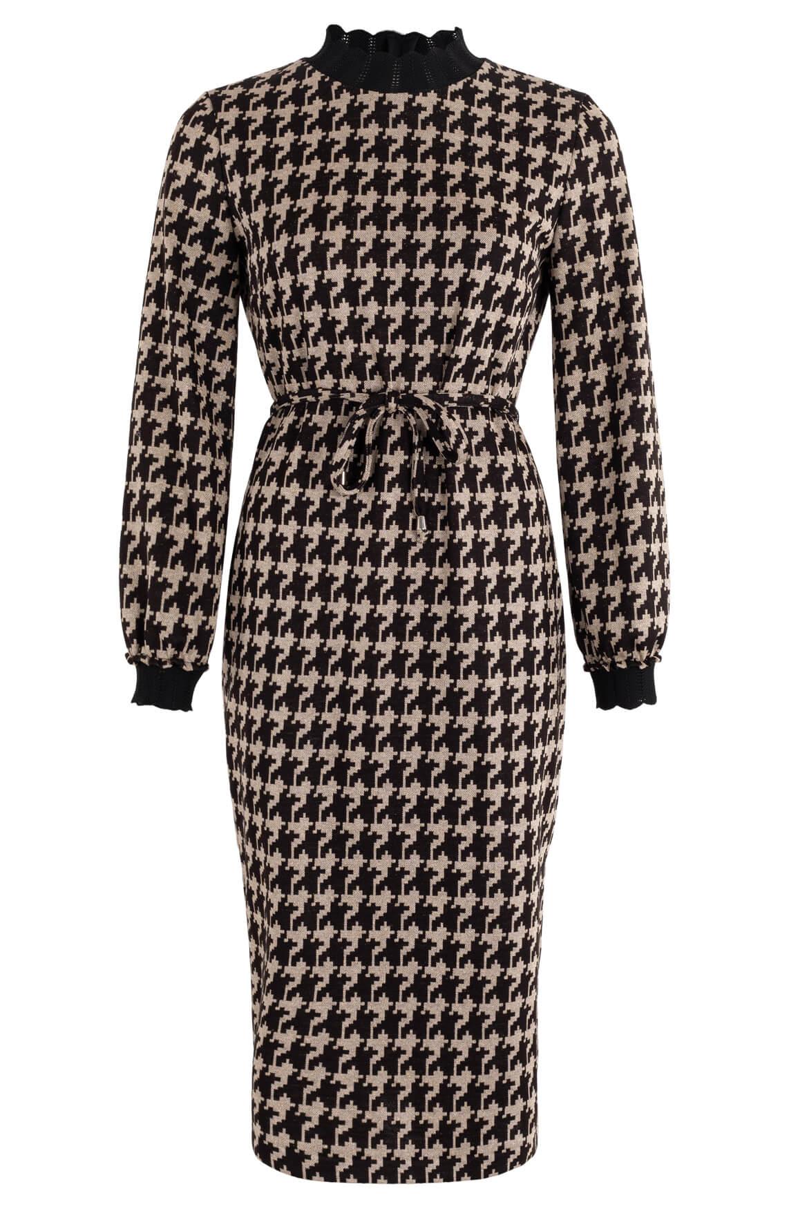 Ana Alcazar Dames Pied-de-poule jurk Zwart