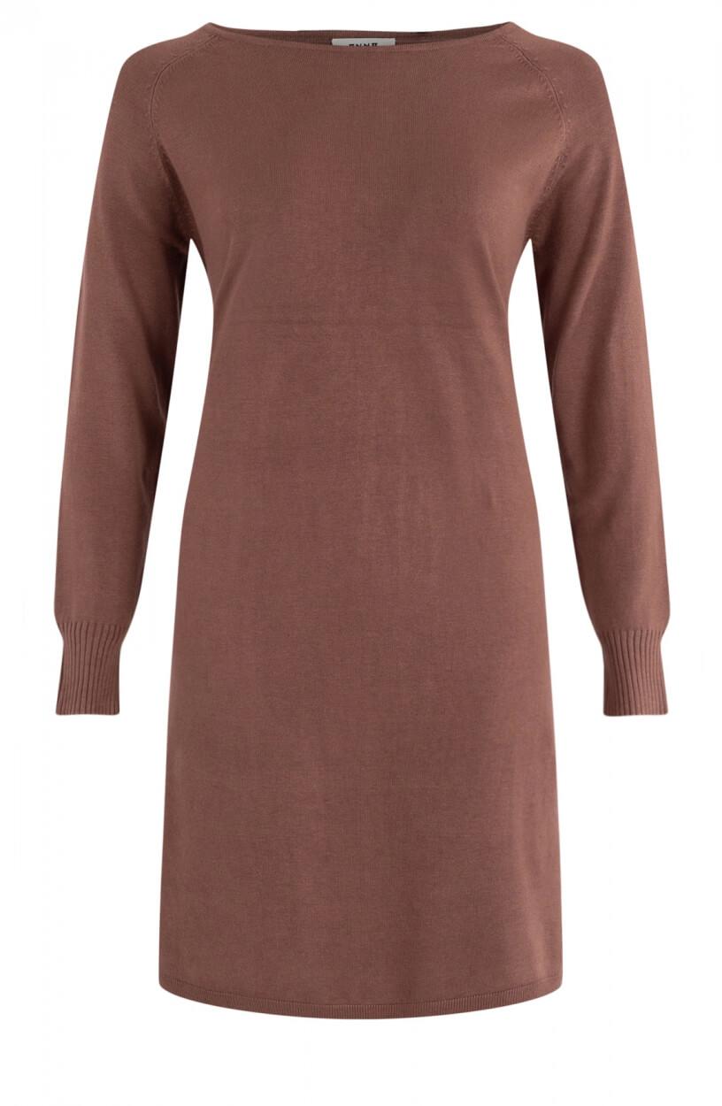 Anna Dames Fijngebreide jurk Bruin