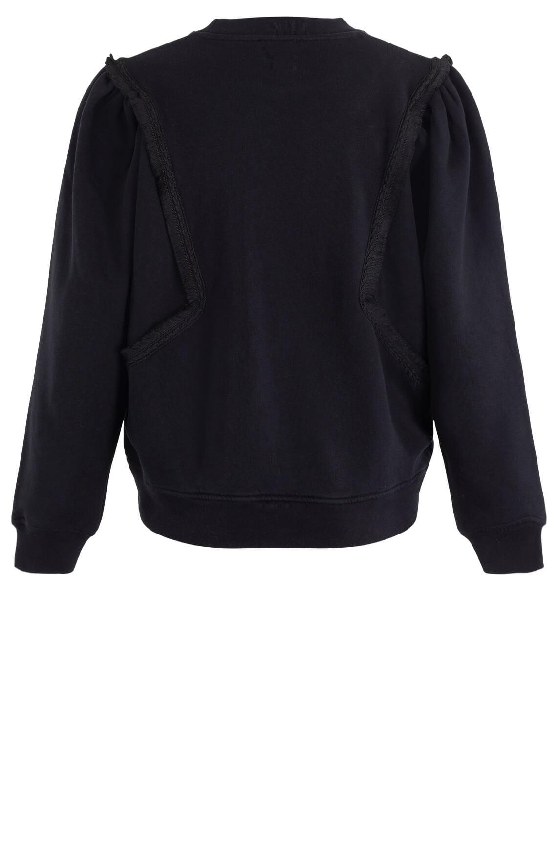 Closed Dames Sweater met gerafeld detail Zwart