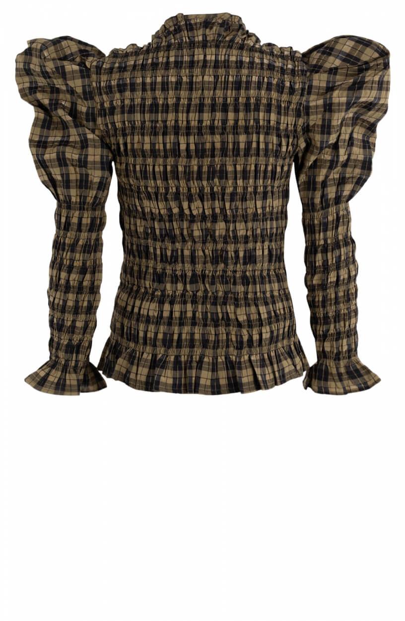 Copenhagen Muse Dames Gesmokte blouse Groen