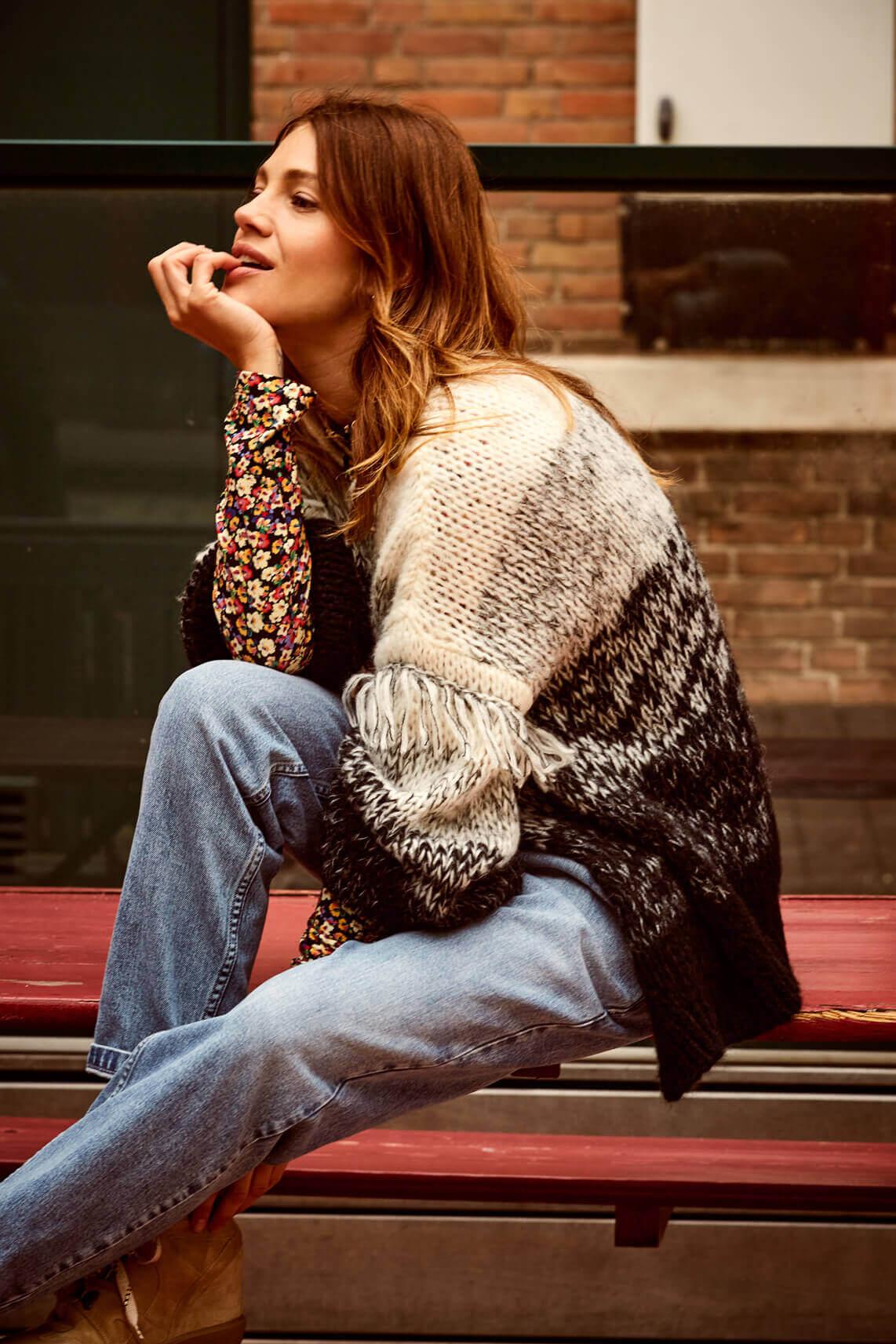 Anna Dames Jeans Blauw