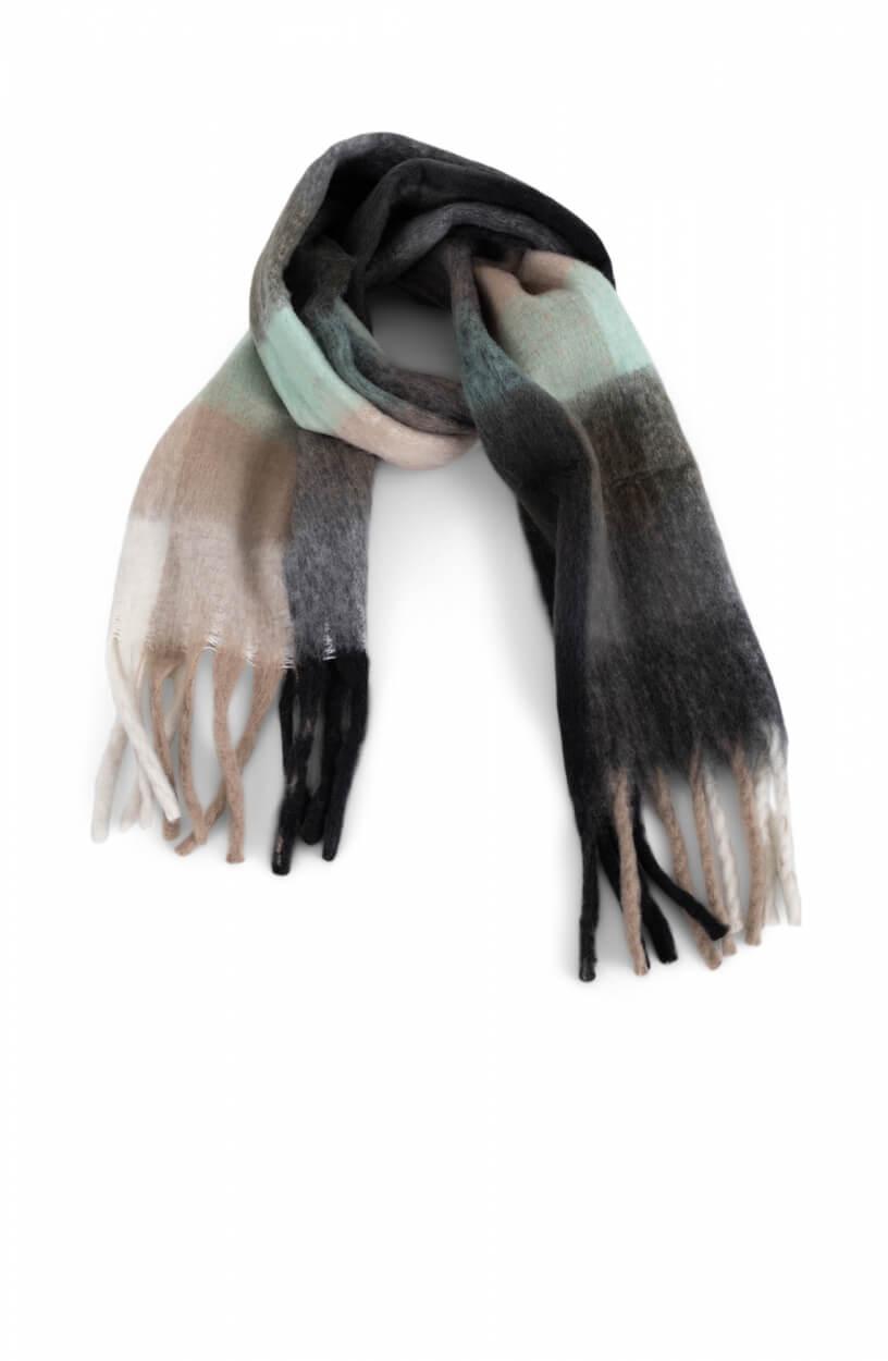 Anna Dames Colorblock sjaal Groen