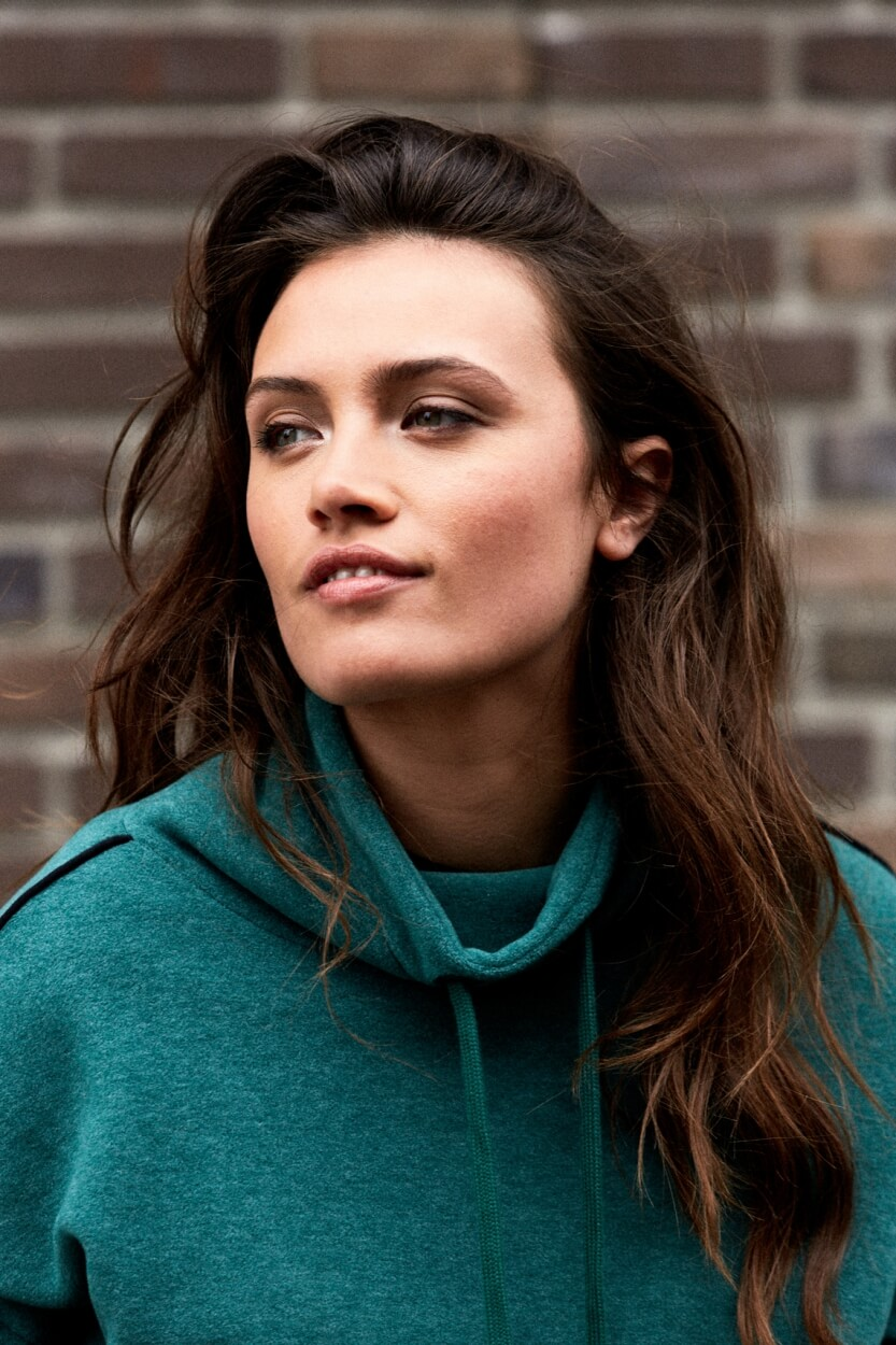 Anna Blue Dames Sweater met hoge kraag Groen