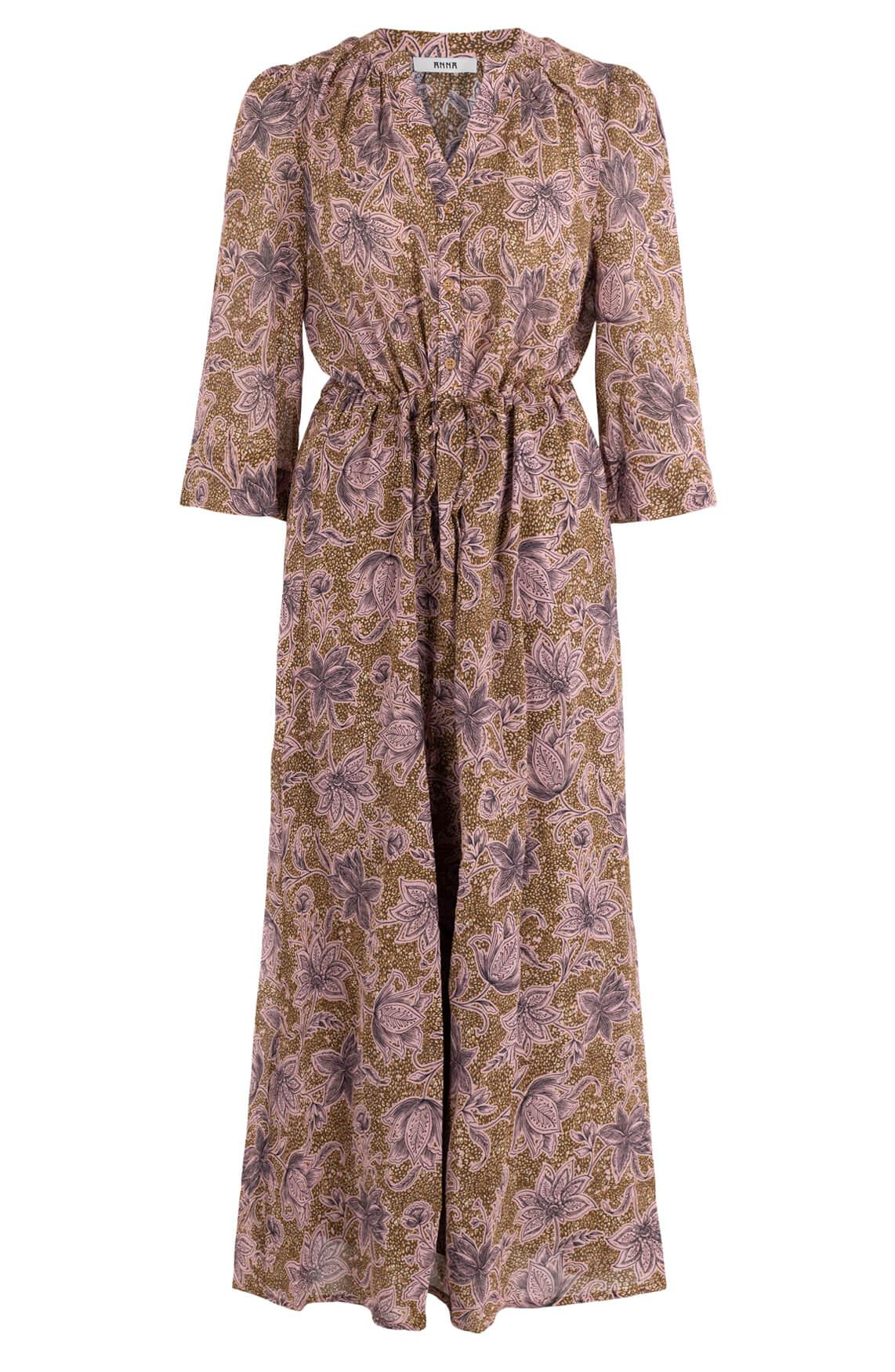 Anna Dames Flower jurk Paars