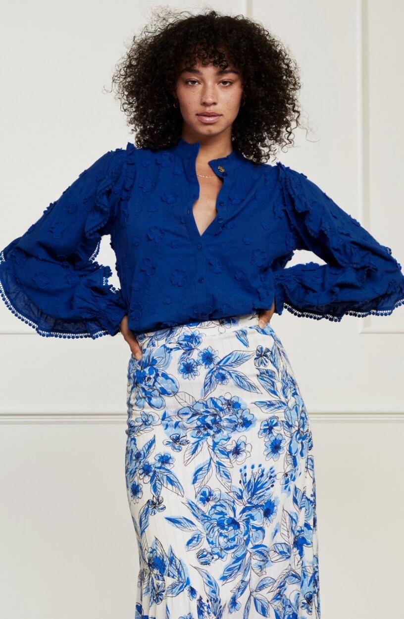 Fabienne Chapot Dames Josefin blouse Blauw