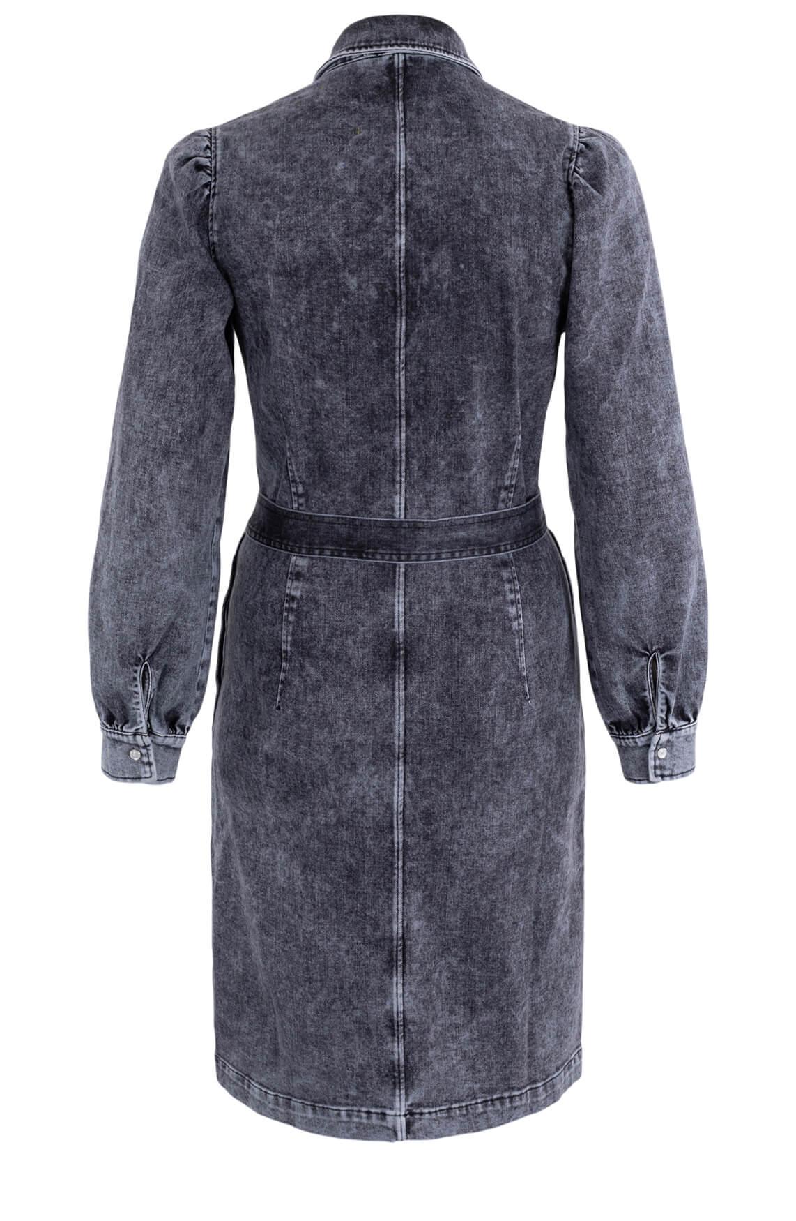 Anna Dames Washed denim jurk Zwart