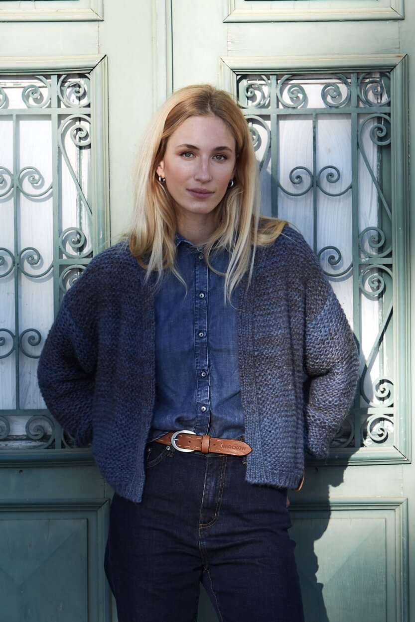 Moscow Dames Blouse Owena Blauw