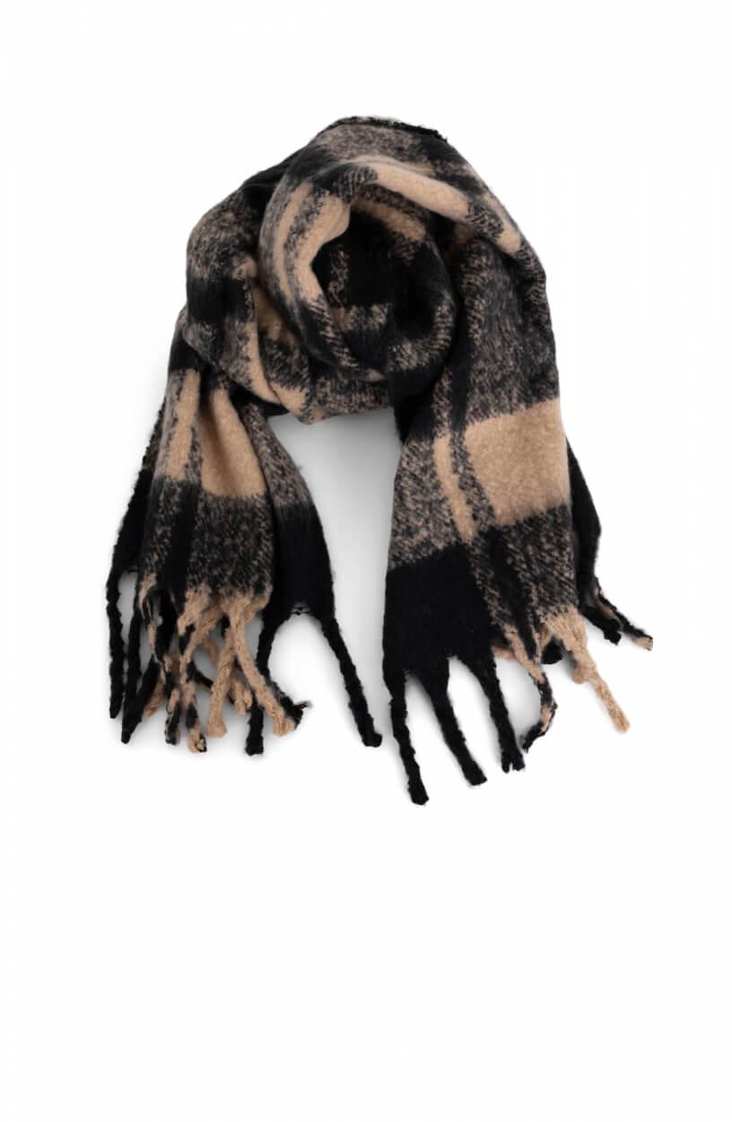 Codello Dames Geruite sjaal Bruin
