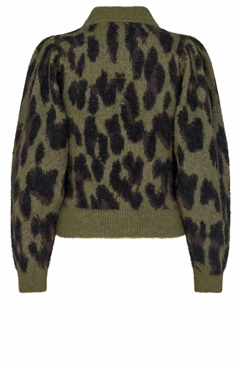 Copenhagen Muse Dames Leopard trui Groen