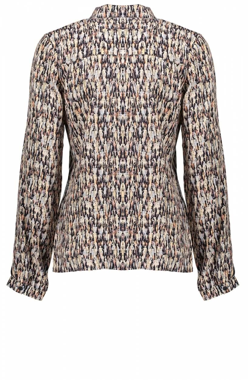 Geisha Dames Geprinte blouse Zwart