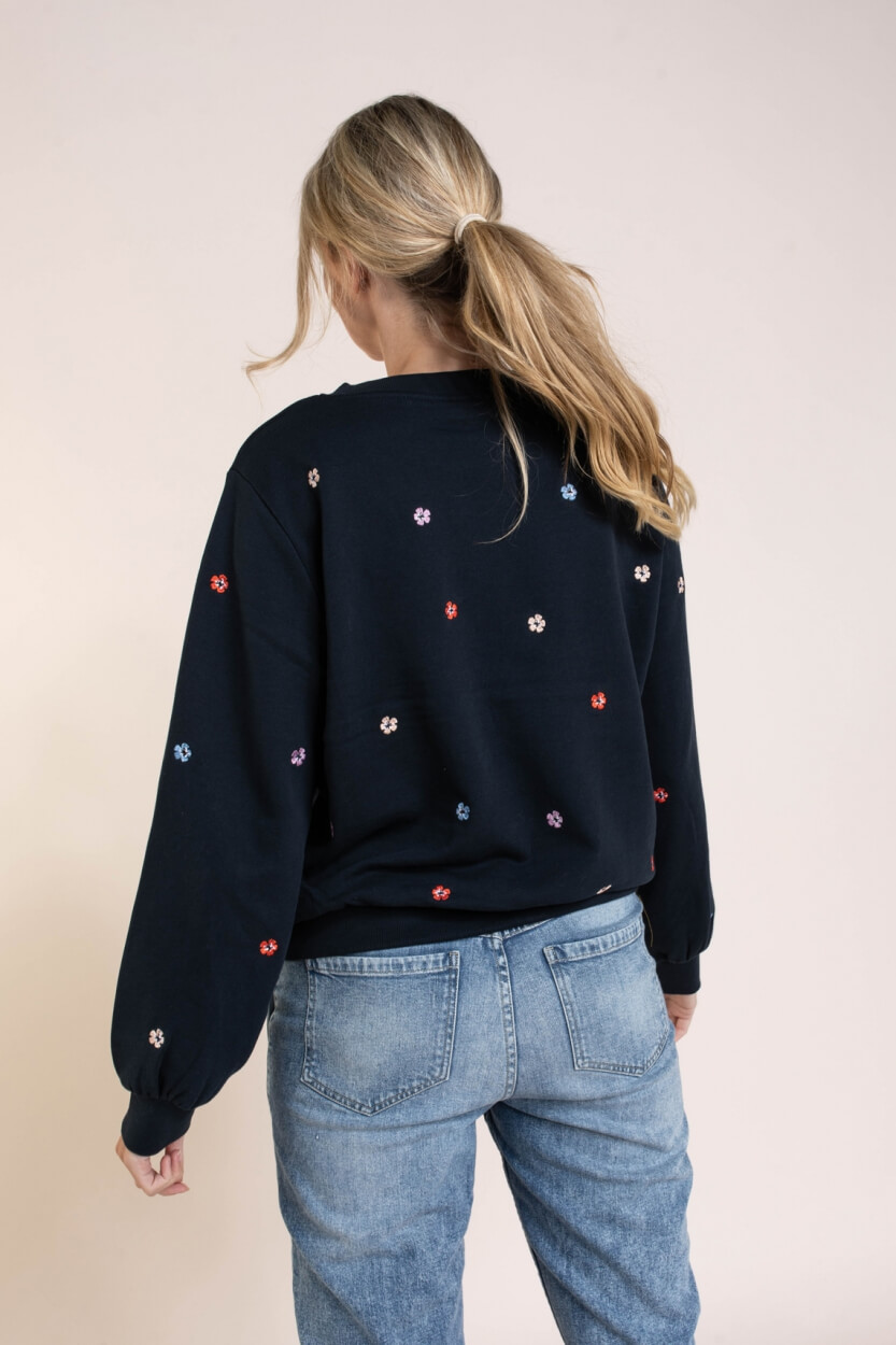 Nümph Dames Nubrittany sweater Blauw