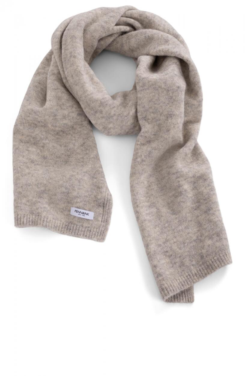Penn & Ink Dames Gemêleerde sjaal Grijs