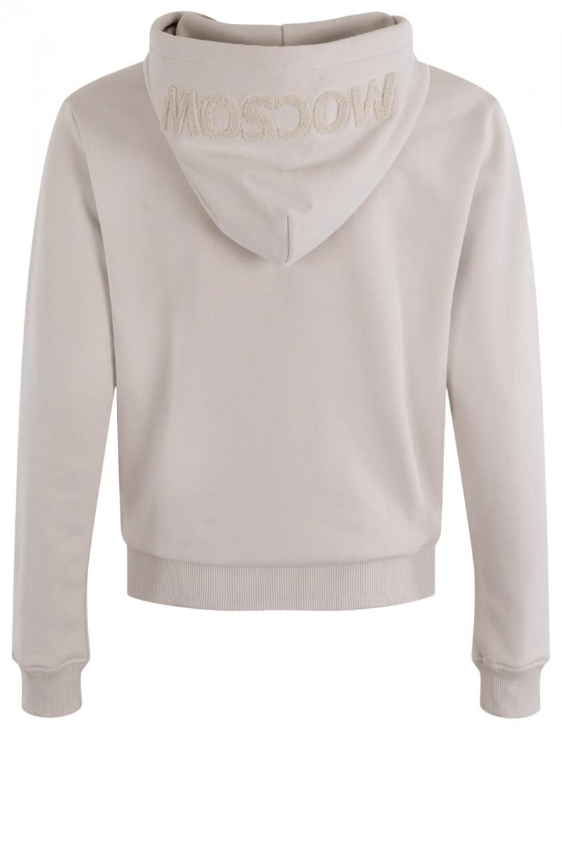 Moscow Dames Sweater Hoody Ecru