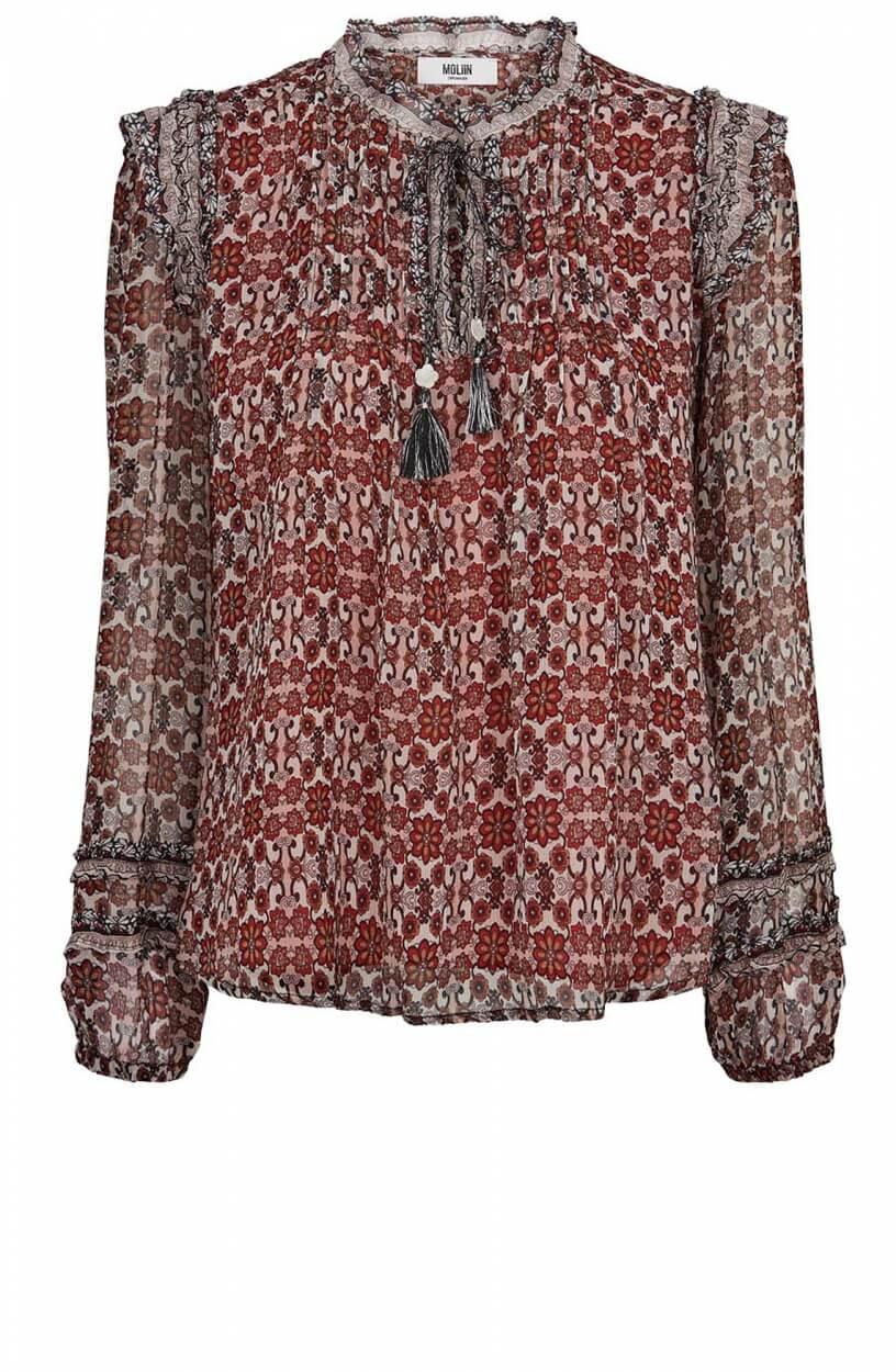 Moliin Copenhagen Dames Zoe blouse Rood