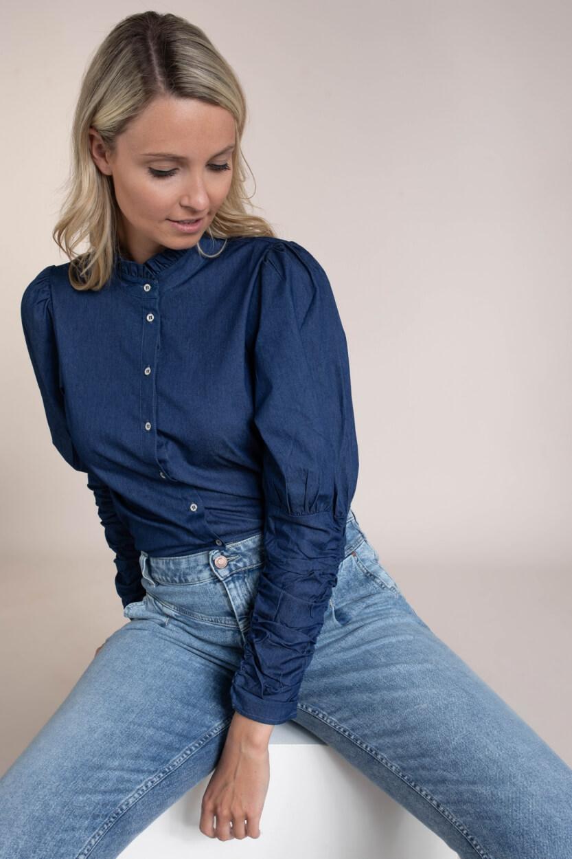Co Couture Dames Sandy blouse Blauw