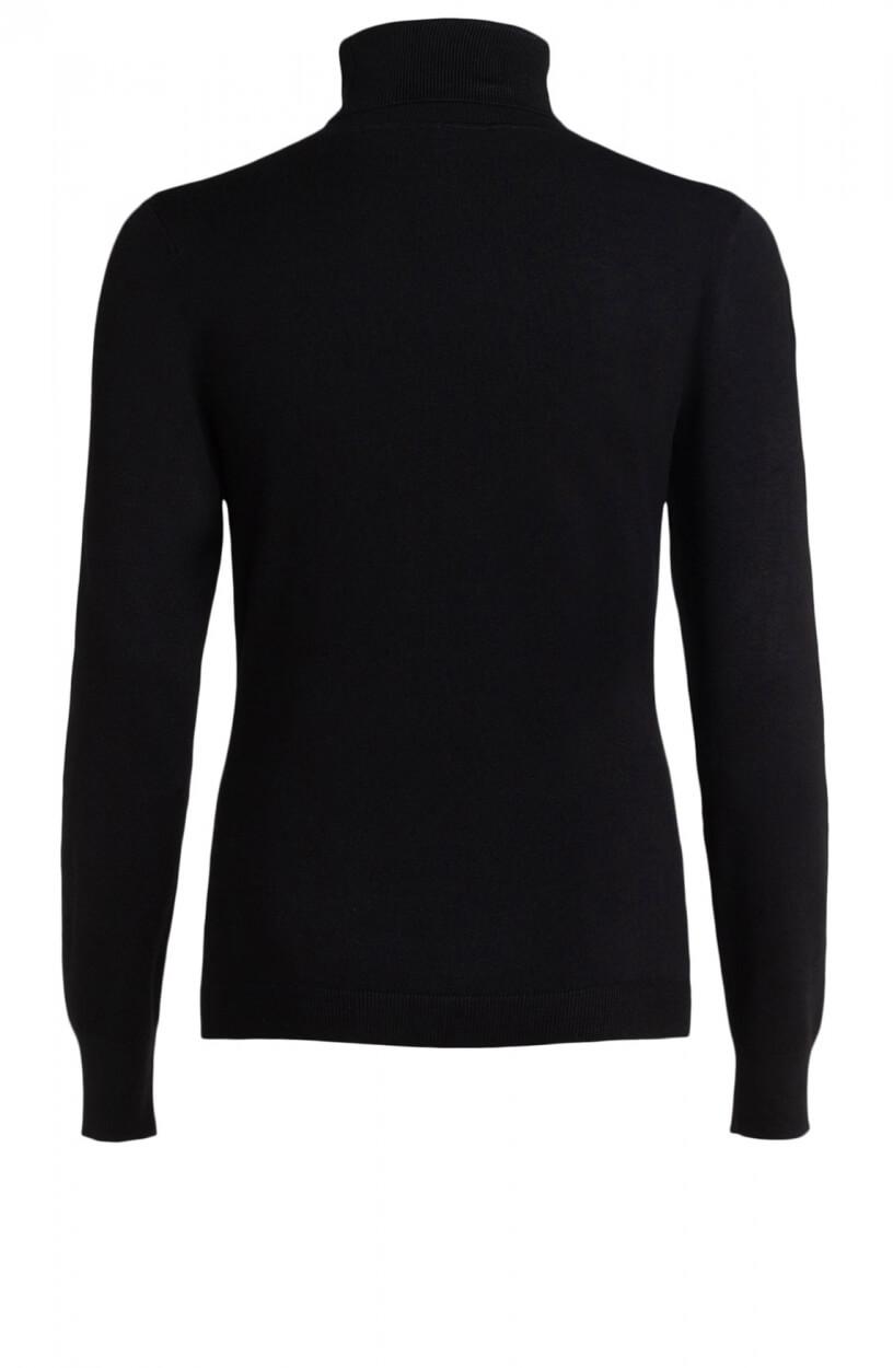 Anna Dames Pullover met col Zwart