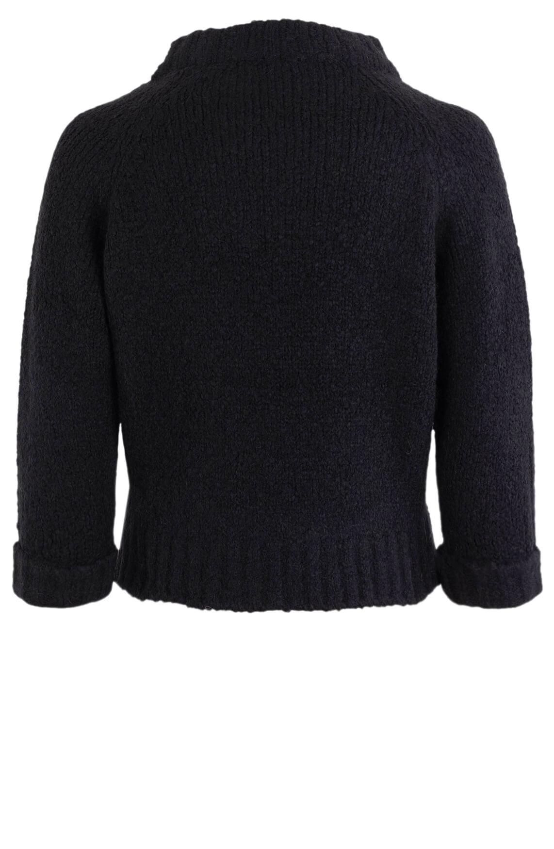 Penn & Ink Dames Cropped trui Zwart