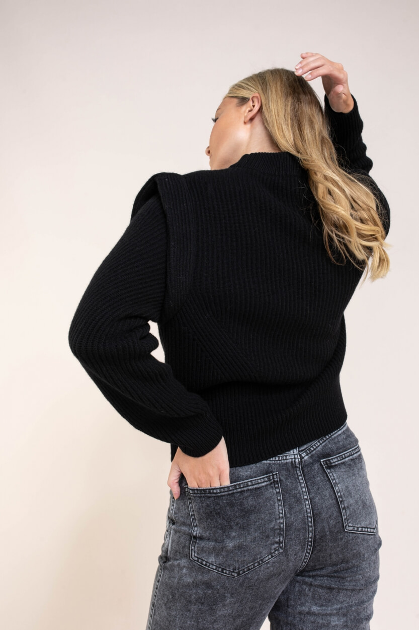 Drykorn Dames Jorah trui Zwart