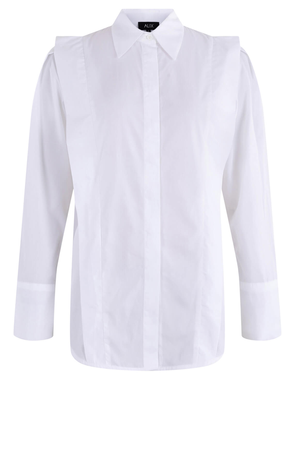 Alix The Label Dames Oversized blouse Wit
