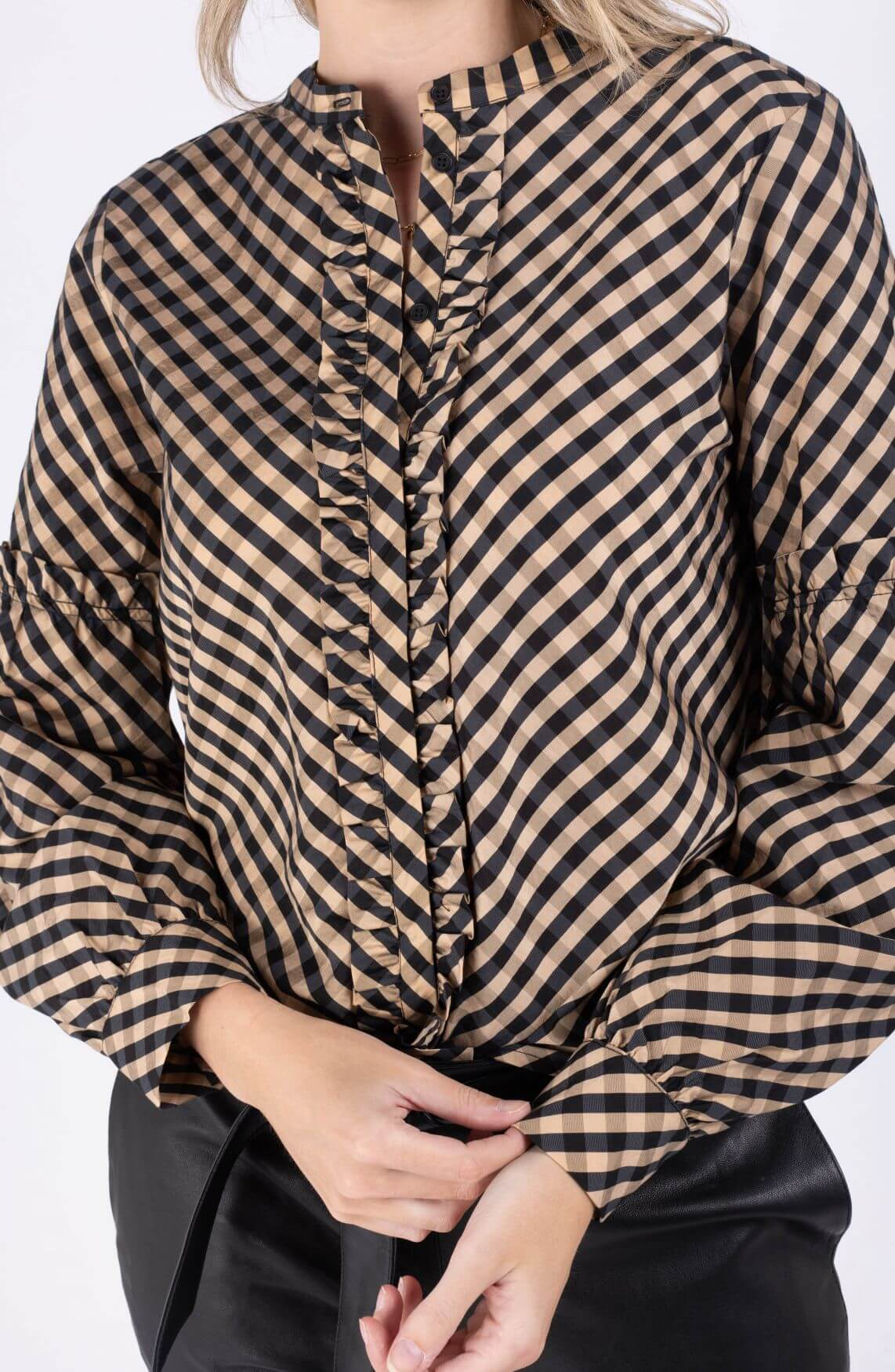 Levete Room Dames Kamma blouse Blauw
