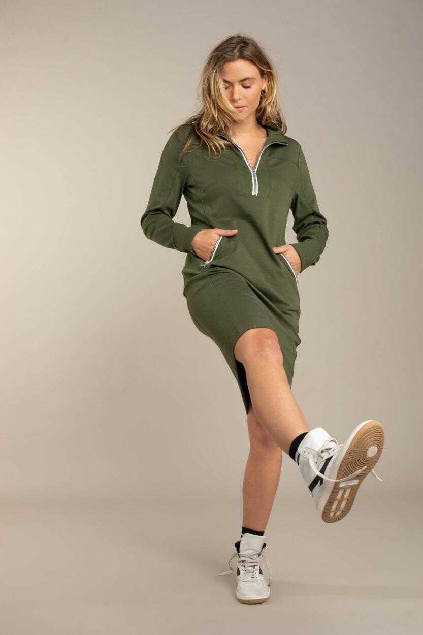 Anna Blue Dames Sporty jurk Groen