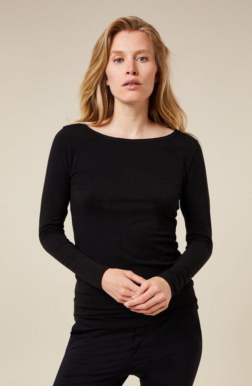10 Days Dames Boothals shirt Zwart