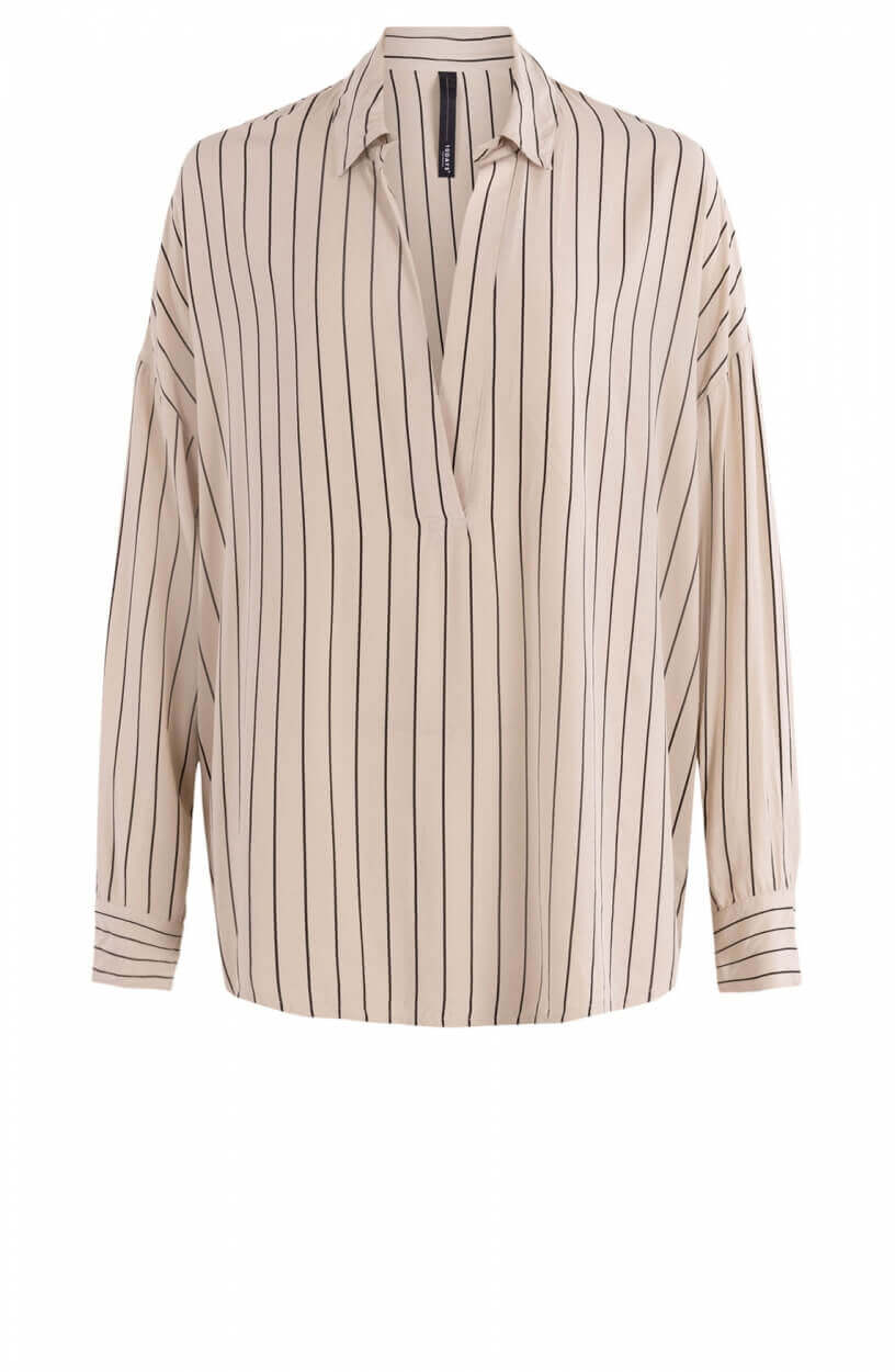 10 Days Dames Gestreepte blouse Ecru